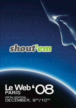 Shout'em at the LeWeb'08 startup competition