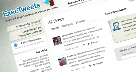 ExecTweets - Powered by Twitter & Federated Media