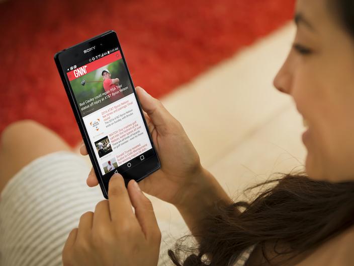 Golf News Net app created with Shoutem