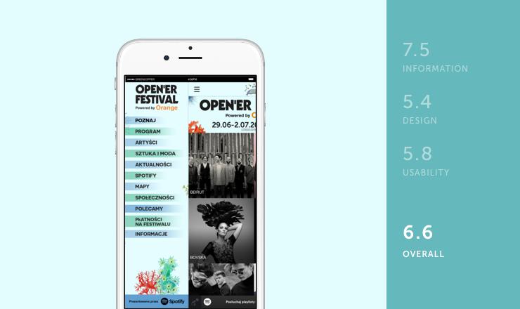Open'er mobile festival app