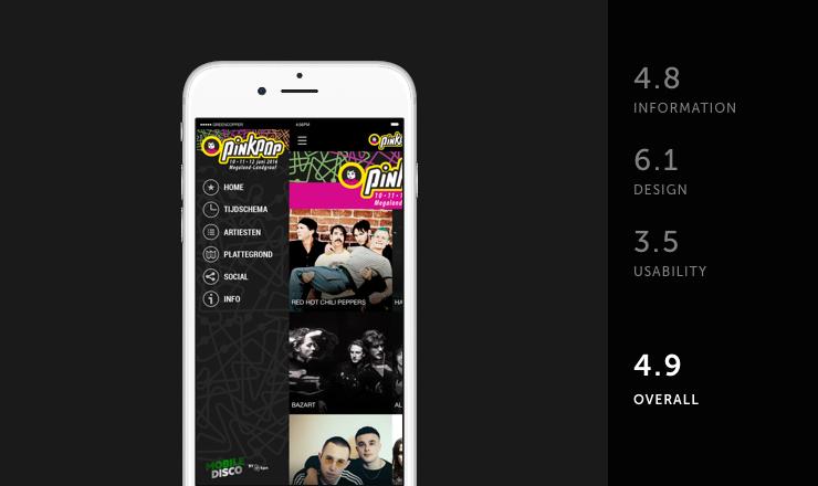 Pinkpop mobile festival app