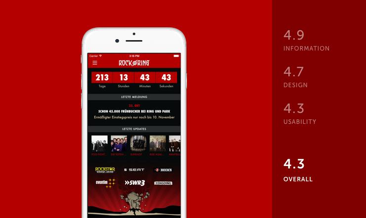 Rock am Ring mobile festival app