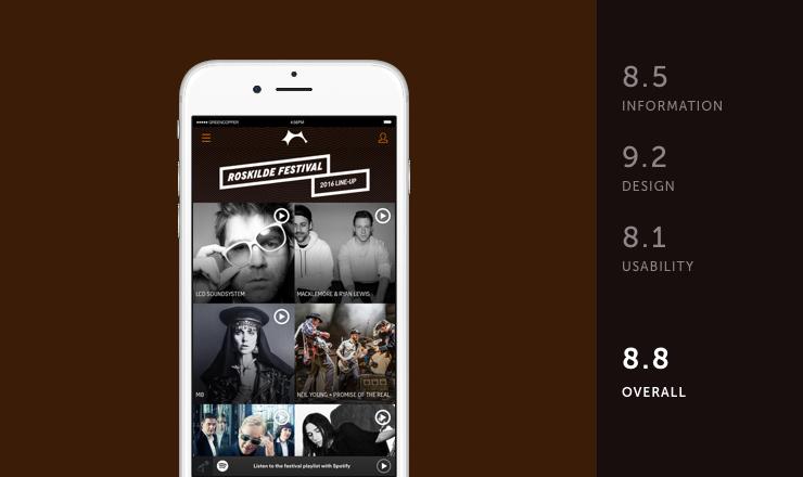 Roskilde mobile festival app