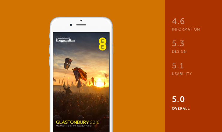 Glastonbury festival app