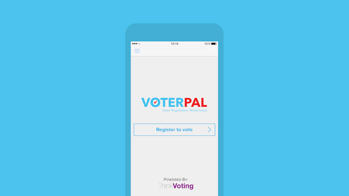 iPhone device running VoterPal app that can help you decide whom to vote for at 2016 presidential election