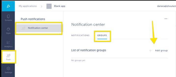Push Notifications setup