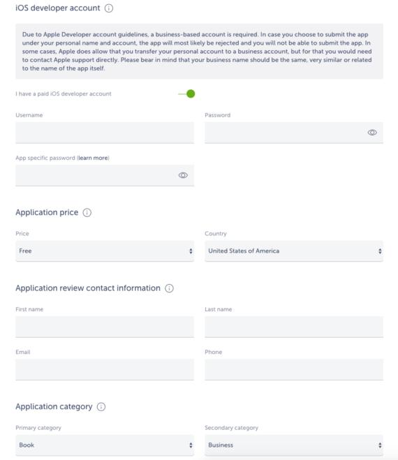 ios app publishing