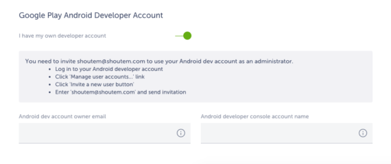 google  play developer account