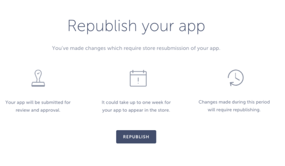 republish your app