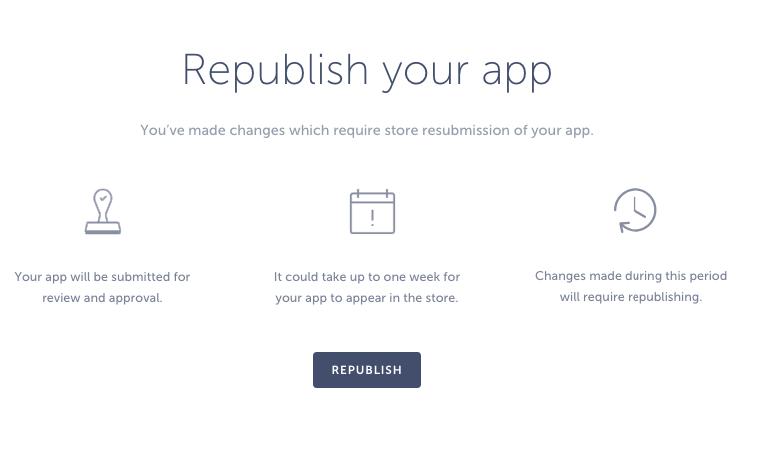republish your app
