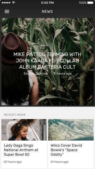 news app screen
