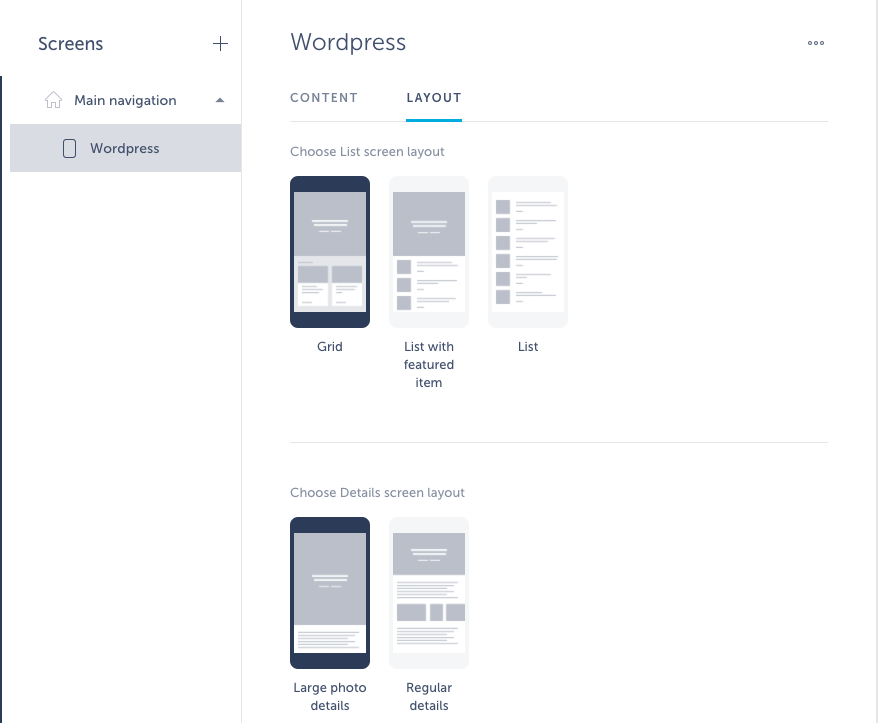wordpress setup in app