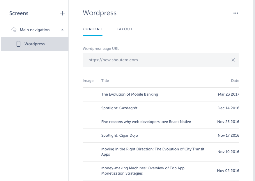 wordpress app integration