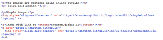 Supported HTML Tags and Inline Styling