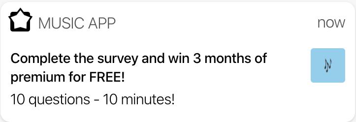 survey push notifications