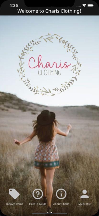 charis clothing app