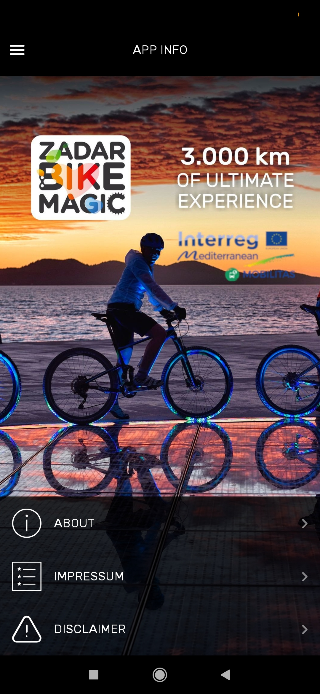 zadar bike magic app