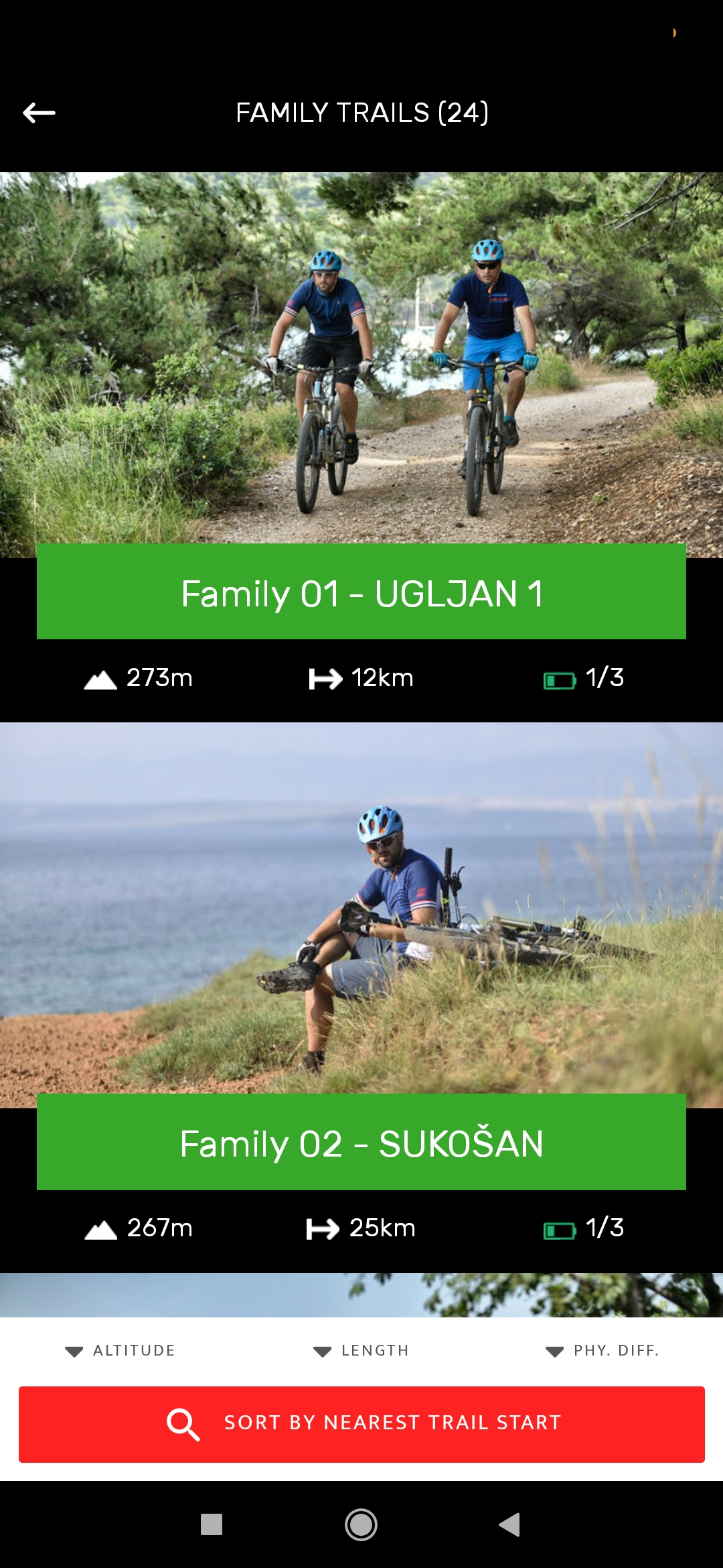 zadar bike magic mobile app