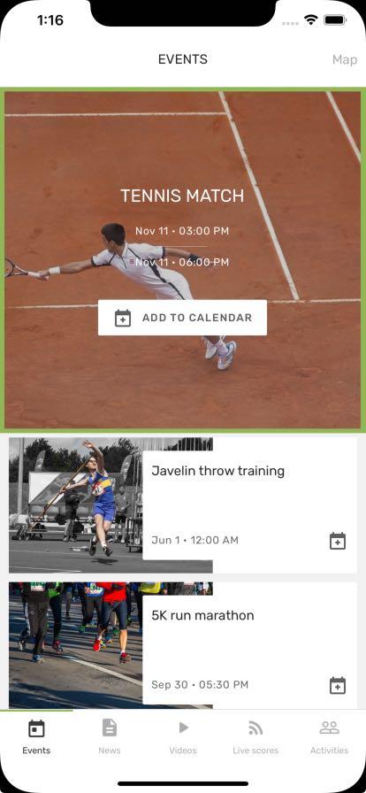 tennis mobile app