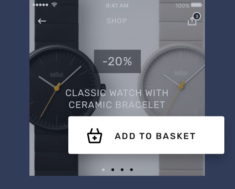 add to basket app