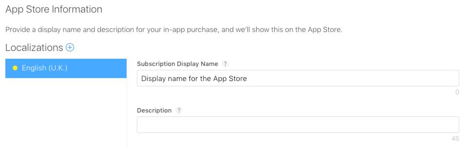 app store information