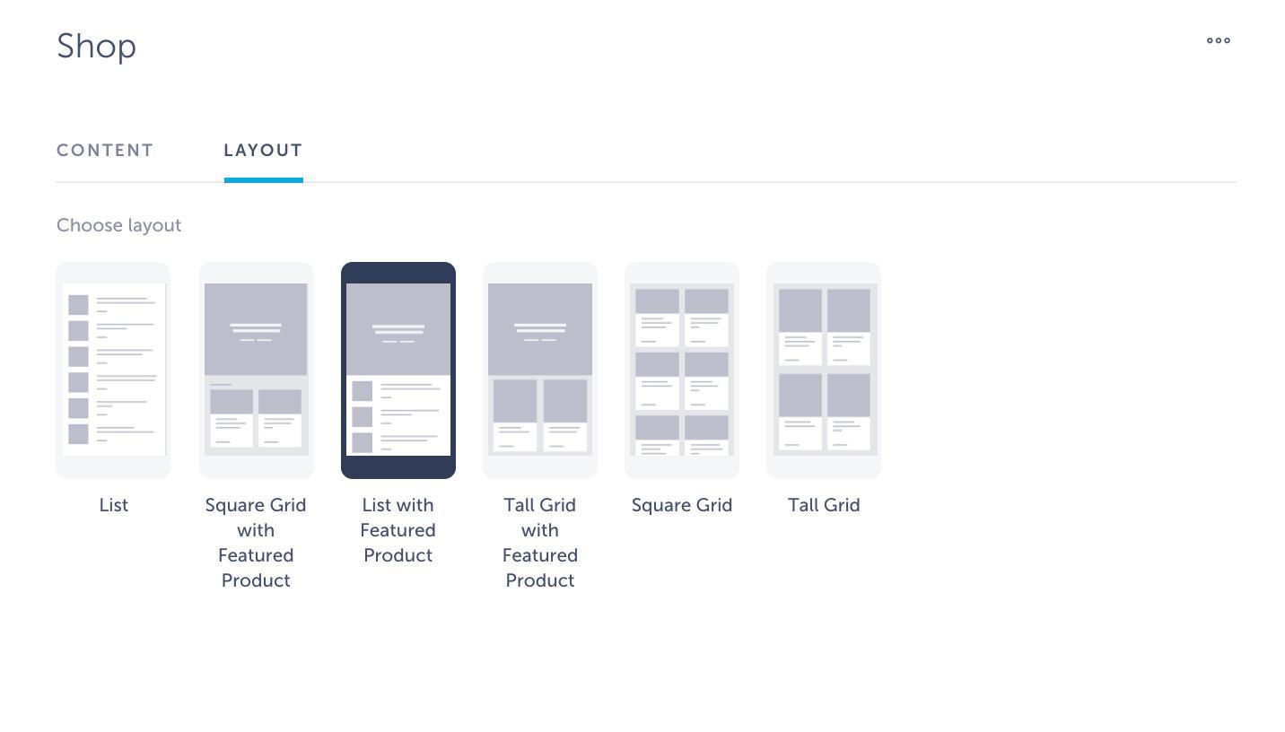 layout shopify