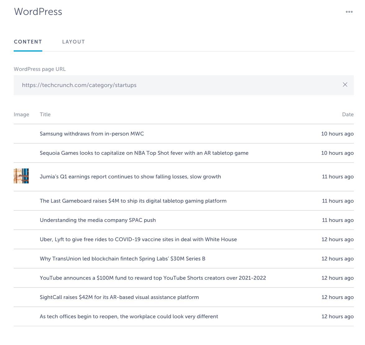 categorize urls in wordpress app