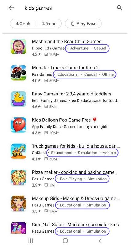 google play store app categorization